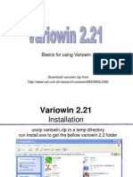 Lab5- Variowin Basics