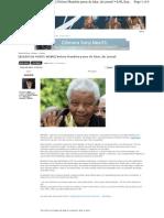 Nelson Mandela Teria Deixado de Falar