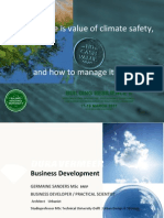 """Germaine Sanders - """"Where is Value of Climate Safety and How to Manage it?"""""""