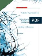 Etapas, Planeación, Organización y Realización de la Boda