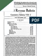 Bureau of Internal Revenue Cumulative Bulletin VIII-2 (1929)