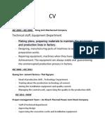 Resumes/CV sample