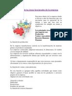 Definición de las áreas funcionales de la empresa