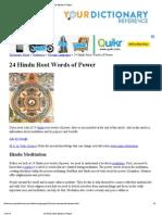 hindu root words