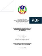 THE INFORMATION SYSTEMS CAPABILITY OF