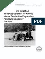 FEMA wood gasifier for oil emergency