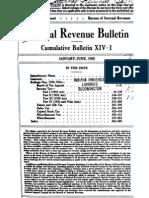 Bureau of Internal Revenue Cumulative Bulletin XIV-1 (1935)
