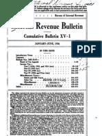 Bureau of Internal Revenue Cumulative Bulletin XV-1 (1936)