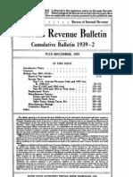 Bureau of Internal Revenue Cumulative Bulletin 1939-2