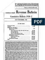 Bureau of Internal Revenue Cumulative Bulletin 1938-2