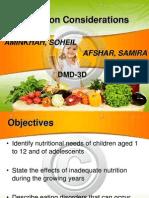 Nutrition Considerations