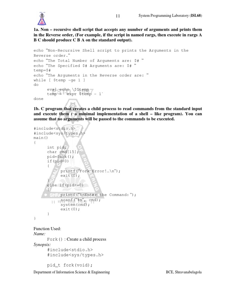 LEXYAAC PRogram VTU LAB 06IS58 | Command Line Interface | Computer File