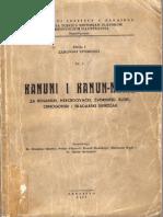 Kanuni i kanuname za Bosanski, Hercegovacki, Zvornicki, Kliski i Crnogorski sandzak