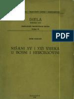 Sefik Beslagic - Nisani XV i XVI stoljeca u BiH