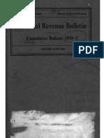 Bureau of Internal Revenue Cumulative Bulletin 1949-1