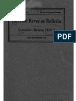 Bureau of Internal Revenue Cumulative Bulletin 1949-2