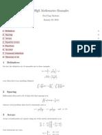 Latex maths help