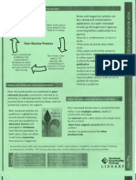 Peer reviewed paper and library database info