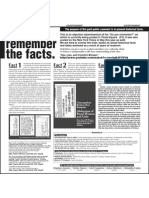Yes, We Remember the Facts