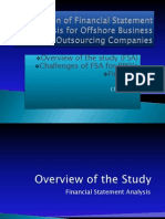 Limitation of Financial Statement Analysis for Offshore Business