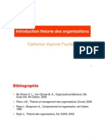 Introduction théorie des organisations