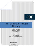 The functions of music therapy