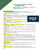 Listado de Las Traducciones de Martin Heidegger