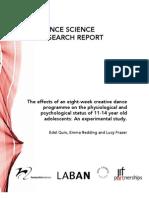 dance research report