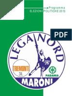 Programma Lega Nord 2013