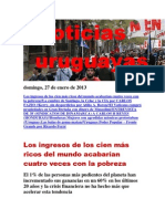 Noticias Uruguayas Domingo 27 de Enero Del 2013