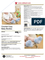 Crochet Cozy Baby Booties