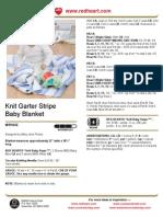 Knit Garter Stripe Baby Blanket