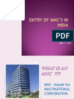 entry of mnc in india