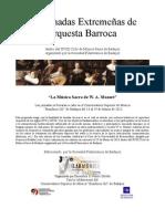 III Jornadas Extremeñas de orquesta Barroca, Dossier