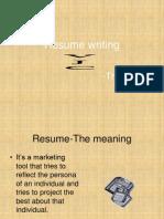 Resume writing.ppt