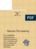 Resume writing.ppt