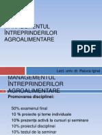 Managementul intreprinderilor agroalimentare