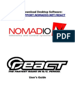 Nomadio React User Manual