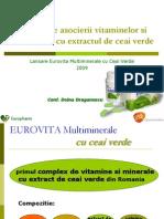 Eurovita Multiminerale Cu Ceai Verde, Conf. Farm. Doina Draganescu