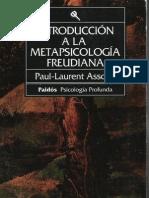 Assoun Paul Laurent - Introduccion a La Metapsicologia Freudiana