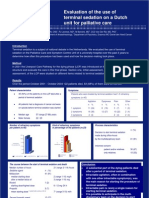 Evaluation of the use of terminal sedation on a Dutch unit for palliative care