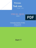 Visual Quiz Round 1