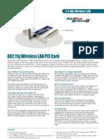Manual 802.11g Wireless LAN PCI Card