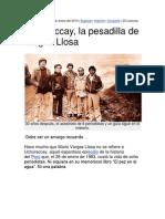 Uchuraccay, La Pesadilla de Vargas Llosa. Por Juan Gargurevich