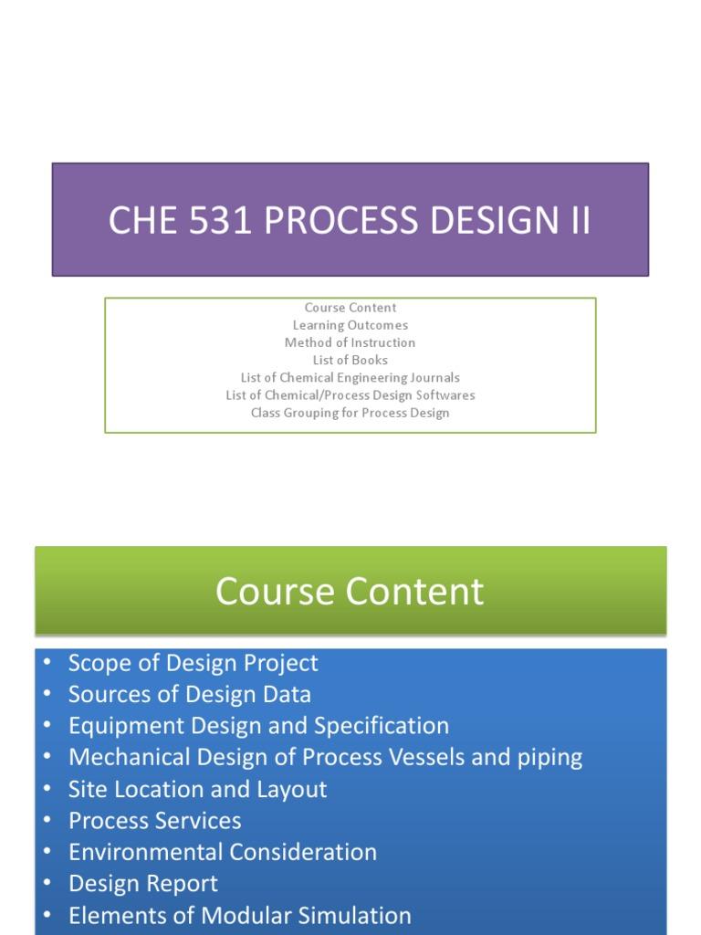 PROCESS DESIGN | Heat Exchanger | Chemical Engineering