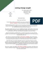 301 Advisory Committee- 2007-05!09!301 Zoning Change Sought