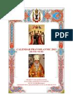 Calendar Ortodox de Stil Vechi 2013