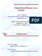 Dual and Tri Band Hybrid Phased Array Systems