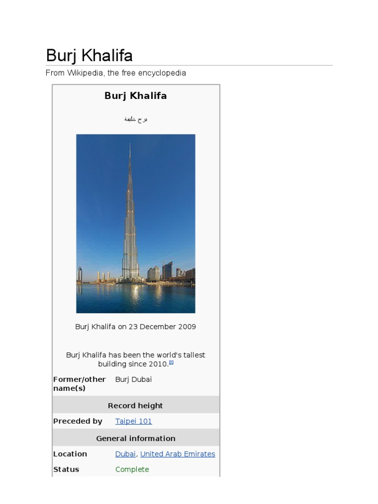 PDF Burj Khalifa | Engineering | Science