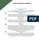 2010- 301 Advisory Committee Headlines